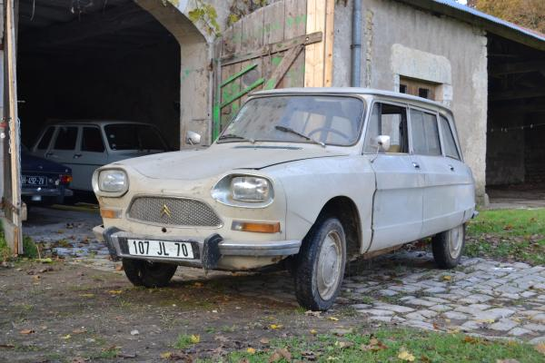 joffroy et sa citroen ami 8 break de 1972