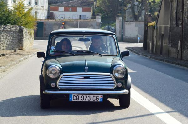 Thibaut et sa Austin Mini After Eight de 1991